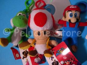 Super Mario Mini Peluche 11 cm Gancio Portachiavi