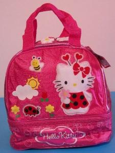 Hello Kitty Borsa Termica Rosa 24 cm Nuova Originale Sanrio zip