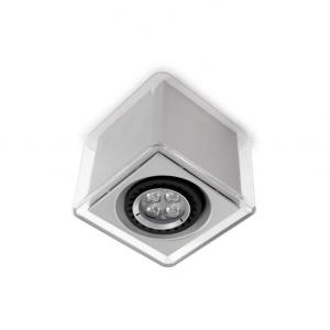 LEDBOX faretto a soffitto grigio metallizzato
