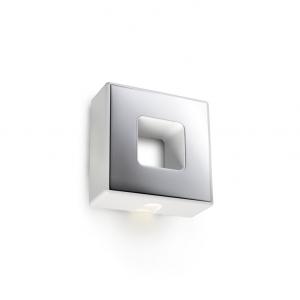 LOV LED applique acciaio finitura bianca e cromo