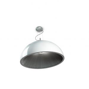 UMBRELLA lampada sospensione argento\/bianco