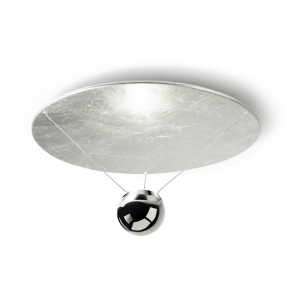 SINGLE LED plafoniera argento 25watt