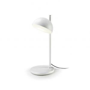 TALK lampada da tavolo in acciaio finitura colore bianco opaco