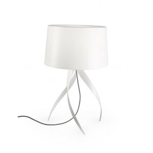 Medusa lampada da tavolo con paralume bianco