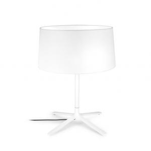 HALL lampada da tavolo bianca con paralume