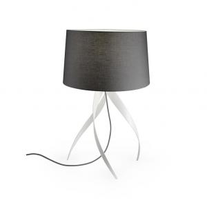 MEDUSA lampada da tavolo con paralume grigio