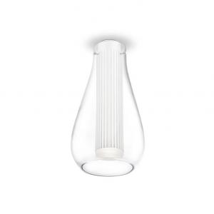 RIGATTO LED plafoniera vetro bianco