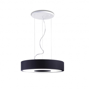 SPIN 75 lampada sospensione paralume nero