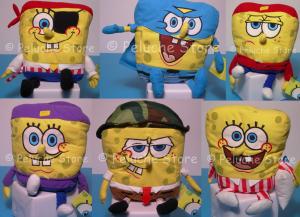 Spongebob vestito peluche 25 cm ricamo Originale Squarepants Qualità