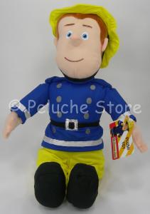 Sam il Pompiere peluche 45 cm seduto Nuovo Originale
