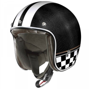 X-LITE X-201 ULTRA CARBON WILLOW SPRINGS Casco Jet - Nero Carbonio e Bianco