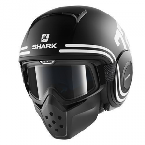 SHARK DRAK 72 - Jet Helmet - Black and White