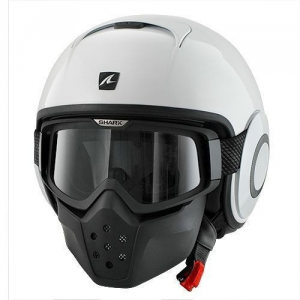 SHARK DRAK BLANK - Jet Helmet - White