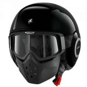 SHARK DRAK BLANK - Jet Helmet - Black
