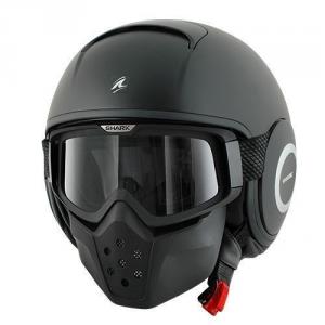 SHARK DRAK BLANK - Jet Helmet - Matt Black
