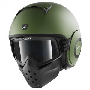 SHARK DRAK BLANK - Jet Helmet - Matt Green