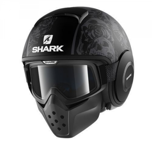 SHARK DRAK SANCTUS - Jet Helmet - Black and Anthracite
