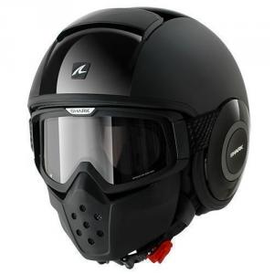 SHARK DRAK DUAL - Jet Helmet - Black