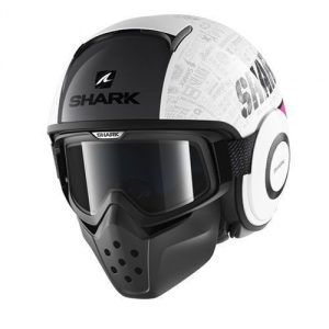 SHARK DRAK TRIBUTE - Jet Helmet - White - Purple and Silver