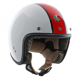AGV CITY RP-60 Multi B4 De Luxe - Jet Helmet - White and Red