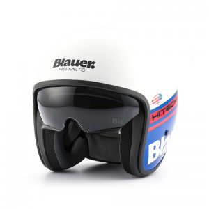 BLAUER PILOT 1.1 Jet Helmet - White - Blue and Red