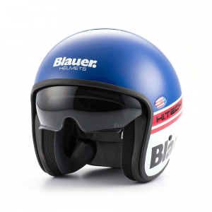 BLAUER PILOT 1.1 Jet Helmet - Blu and White