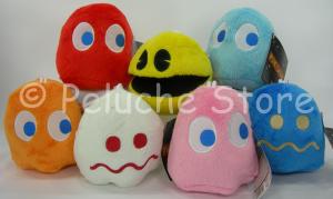 Pac-Man e Fantasmi peluche 10x10 cm Namco Originale