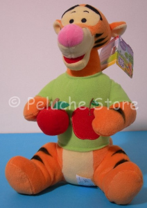 Disney Winnie the Pooh Tigro seduto Peluche frutta Mela 32 cm Originale