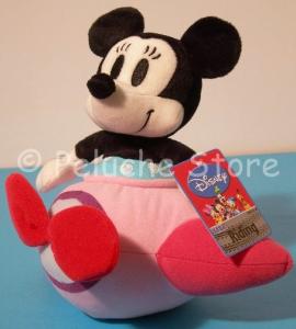 Disney Topolino Minnie in aereo peluche 25 cm Nuovo Originale