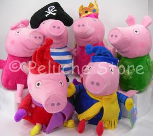 Peppa Pig e amici peluche 30 cm velluto serie 1 assortiti