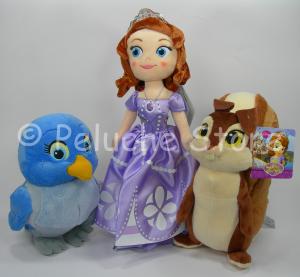 Principessa Sofia e amici Disney peluche da 20 a 30 cm Mia Nocciola Scoiattolo