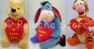 Winnie the Pooh e amici Cuore peluche Grande 33 cm Tigro Hi Oh Originale