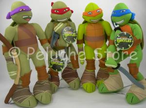 Tartarughe Ninja Turtles peluche 35 cm Donatello Raffaello Michelangelo Leonardo
