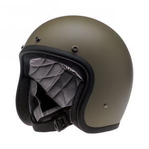 BILTWELL Bonanza LE FURY Open Face Helmet - White/Blue