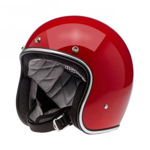 BILTWELL Bonanza LE RACER Open Face Helmet - Green/White