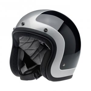 BILTWELL Bonanza LE TRACKER Open Face Helmet - Black/Vintage White
