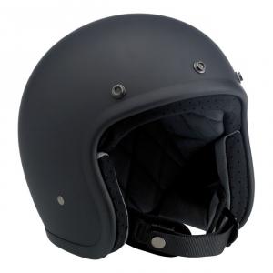 BILTWELL Bonanza Open Face Helmet - Flat Black - Special Offer