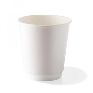Bicchieri biodegradabili doppio strato 360ml bianchi
