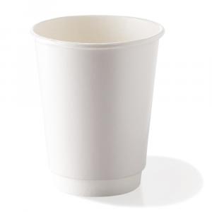 Bicchieri biodegradabili doppio strato 500ml bianchi
