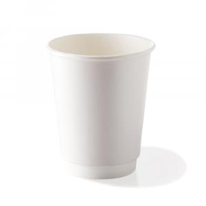 Bicchieri biodegradabili doppio strato 240ml bianchi