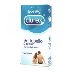 DUREX SETTEBELLO - PRESERVATIVI CLASSICI TRASPARENTI E LUBRIFICANTI CON SERBATOIO