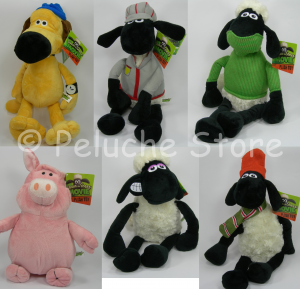 Shaun the Sheep Movie pecora e amici Peluche Grande 40 cm Originale