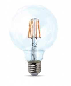 Lampadina E27 Filament Globo LED 7.5watt