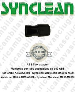 Manicotto per tubo aspirazione da ø40 ABS valido per Ghibli AS59 - AS590 - Synclean MX59 - MX590