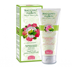 Shampoo doccia gel profumato Ortensia e Fico Helan 200 ml.