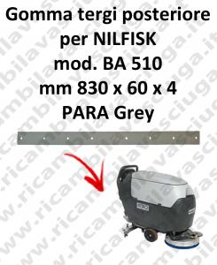 BA 510 - GOMMA TERGI posteriore per lavapavimenti Nilfisk