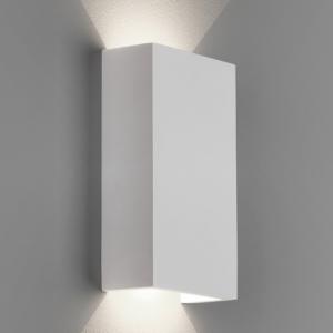 RIO 125 LED applique in gesso bianco