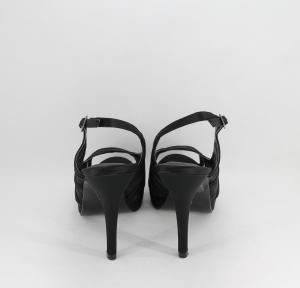 Sandalo donna elegante cerimonia in tessuto di raso e rete con cinghietta regolabile  Art. BS401