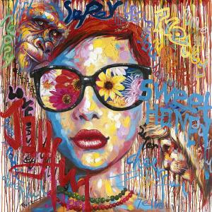 Dipinto a olio su tela tecnica spatolatura Dreams - Stones