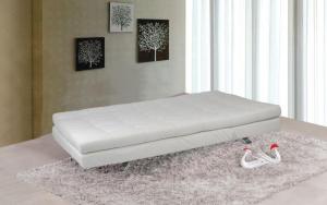 divano letto ecopelle bianco 3 posti